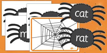 Rhyming String Spider Webs Resource Pack - rhyming string, spider webs, resource, pack