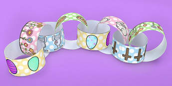 Easter Paper Chain - easter, paper chain, craft, paper, chain