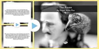 The Raven Edgar Allan Poe Poem PowerPoint - KS2 Poetry