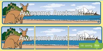 Awesome Australia Display Banner - Australia Display Banner - display, banner, display banner, poster, australia, australia display, au