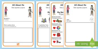 All About Me Activity Booklet English/Greek - me, myself, ourselves, people, new term, sen, oursleves, ourselvs, all bout me, EAL, Greek, greek, g