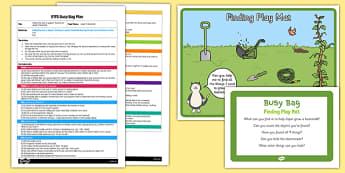 Finding Play Mat EYFS Busy Bag Plan and Resource Pack to Support Teaching on Jasper's Beanstalk - beans, growth, growing, plants