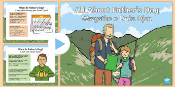 EYFS All About Father's Day PowerPoint English/Polish - EYFS One Off Resources, fathers day, dad, daddy, grandad, powerpoint, history, information. , eyfa,