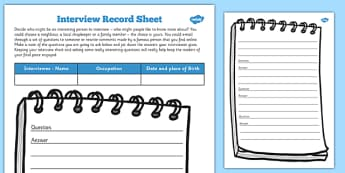 Journalist Interview Record Template - journalist, interview