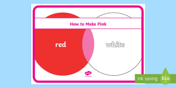 How to Make Pink Poster - colour mixing, how to make, colours