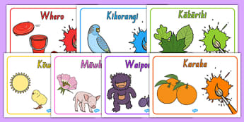 Colours Posters Te Reo Māori - nz, new zealand, poster, displays, display, visual, aid, colour, rainbow