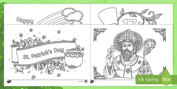 St. Patrick's Day Mindfulness Colouring Pages - ROI, St. Patrick's Day Mindfulness 17.03.17, Colouring Sheets, Green, Colouring, Ireland, Paddy,s D