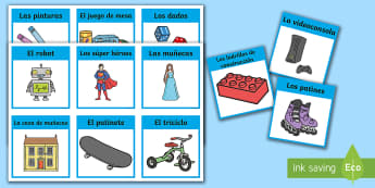 Toys Word Cards - Spanish, KS2, toys, word, cards, languages