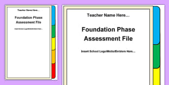 Foundation Phase Assessment File Front Cover A4 Display Poster-Welsh