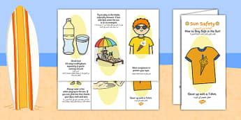 Sun Safety Leaflet Arabic Translation - bilingual, beach, information, summer