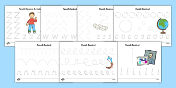 Flat Boy Pencil Control Sheets - flat stanley, flat boy, jeff brown, pencil control