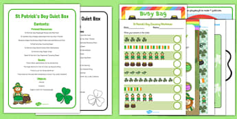 St Patricks Day Quiet Box - St Patrick's day, quiet box, quiet, box, quiet time, time