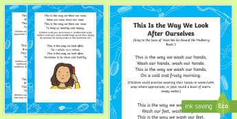 This Is the Way We Look after Ourselves Sensory Song Adult Guidance  - Sensory song, Sensory processing, sensory experience, personal hygiene, personal care