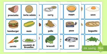 Illustrazioni degli Alimenti - cibo, nome, vocaboli, immagine, disegni, colori, alimentazione, italiano, italian, degli