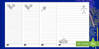 Bonfire Night Differentiated Handwriting Guidelines Resource Pack