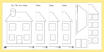 2 Times Table Active Picture Building House Activity - New Zealand, Maths, times tables, multiplication, 2 times tables, activity, Year 3, multiplication,