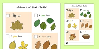 Leaf Hunt Checklist - nz, new zealand, checklist, autumn, leaf hunt, leaf, hunt, hunt checklist, leaf checklist, autumn leaf, autumn leaf hunt, autumn leaf hunt checklist