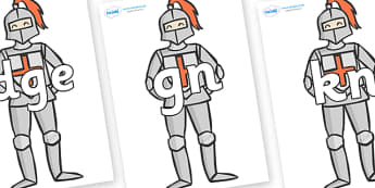 Silent Letters on Knights - Silent Letters, silent letter, letter blend, consonant, consonants, digraph, trigraph, A-Z letters, literacy, alphabet, letters, alternative sounds