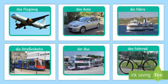 Transport and Travel Display Posters German - Travel, transport, German, MFL, Languages, display photos, Germany, German