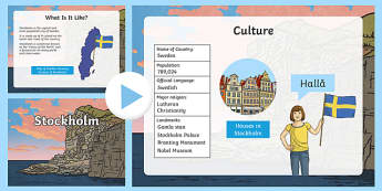 Stockholm Information PowerPoint - stockholm, stockholm powerpoint, swedish capital, capital of sweden, capital cities, information about stockholm, sweden