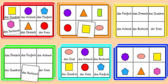 2D Shape Bingo German - german, 2d shape, bingo, 2d, shape, activity