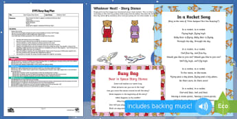EYFS Bear in Space Story Stones Busy Bag Plan and Resource Pack - Whatever Next, Jill Murphy, space, role-play, re-telling, imaginative play, story stones, sensory tr