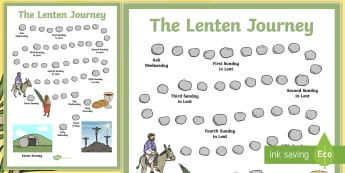 The Lenten Journey Large Display Poster-Irish - Lent, Religion, Easter, Christian, ,Irish
