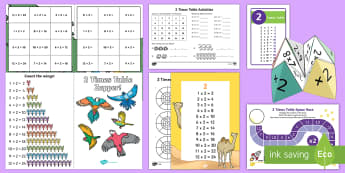 2 Times Table - Maths Resources, maths, numeracy, times, multiplication, 2, two,