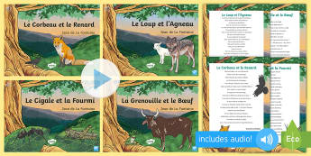 French Fables Resource Pack - French - KS2, French, Fables, animals, moral