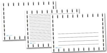Neville Chamberlain Landscape Page Borders- Landscape Page Borders - Page border, border, writing template, writing aid, writing frame, a4 border, template, templates, landscape