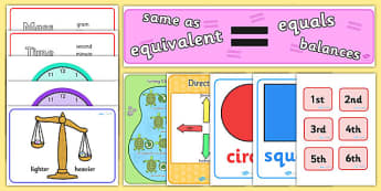 KS1 Maths Display Pack Year 1 - ks1, maths, display pack, year 1