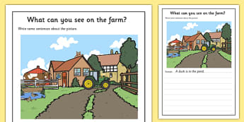 Farm Scene Writing Stimulus Picture Writing Frames
