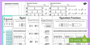 Equivalent Fractions KS2 - Maths Resources, maths, numeracy, ks2, equivalent, same, equal, fractions, numerator, de