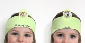 Beatrix Potter - The Tale of Mr Jeremy Fisher Role Play Headband - beatrix potter, story, story book, tale, mr jeremy fisher, role-play, headband