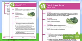 KS2 Take It Outside: Summer - Habitat Hunters Activity - Forest School, Nature Detectives, Investigation, animal adaptation, minibeast