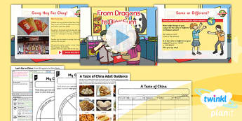 PlanIt - Geography Year 2 - Let's Go to China Lesson 5: From Dragons to Dim Sum Lesson Pack