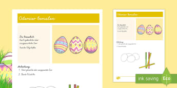 Anleitung Ostereier bemalen - Frühling, Jahreszeiten, Ostern, Ostereier, malen, spring, seasons, Easter, Easter eggs, colouring,G