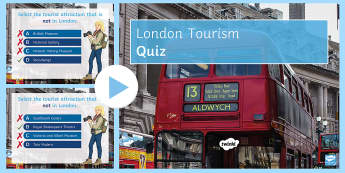 London Tourism Quiz PowerPoint - travel, game, sight-seeing, palace, zoo,