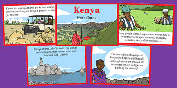 Kenya Fact Cards - kenya, fact cards, kenya, fact, cards, safari, sensational
