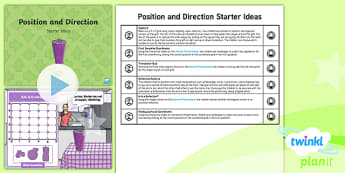 PlanIt Y5 Position and Direction Starter Ideas Pack - Position and direction, coordinates, translation, reflection, symmetry, mirror line