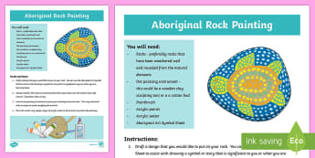 Australian Aboriginal Rock Painting Artwork