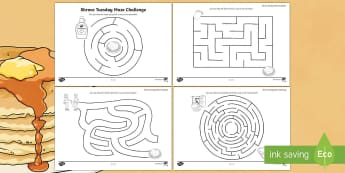 Shrove Tuesday Maze Challenge Activity Sheet-Australia - Shrove Tuesday Maze Challenge  Activity Sheet, shrove tuesday maze, pancake day maze, pancake tuesda