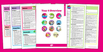 2014 Curriculum Overview Booklet Year 4 - new curriculum, 2014