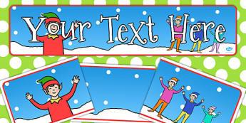 Elf Themed Editable Banner for Publisher - elf, editable, banner
