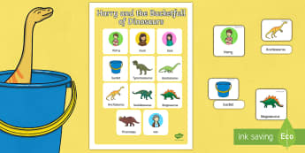 Vocabulary Poster to Support Teaching on Harry and the Bucketful of Dinosaurs - stories