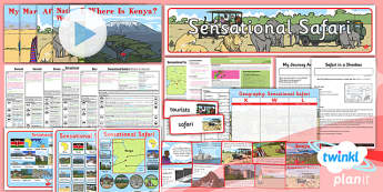PlanIt - Geography Year 2 - Sensational Safari Unit Pack - planit, geography, year 2, sensational safari, unit, pack, ks1