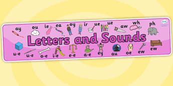 Phase 5 Display Banner - Phase 5, phase five, Phases, Foundation, Literacy, Letters and Sounds, display banner, Alphabet, A-Z letters, Alphabet flashcards, letters and sounds, DfES, display