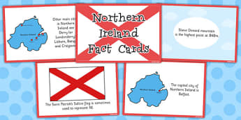 Our Country Northern Ireland Fact Cards - northern ireland, fact