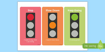 Traffic Light Cards - lights, red, orange, green, visual, visuals