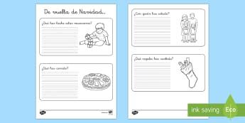 ¿Qué has hecho estas Navidades? Ficha de actividad-Spanish